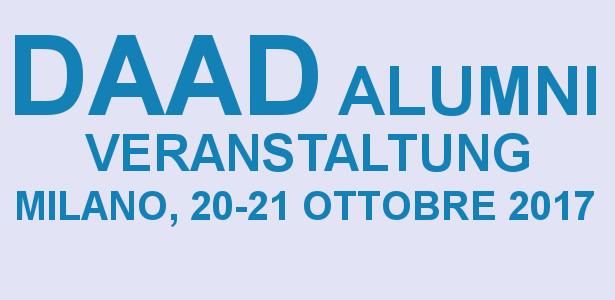DAAD Alumni Veranstaltung - Milano, 20-21 Ottobre 2017